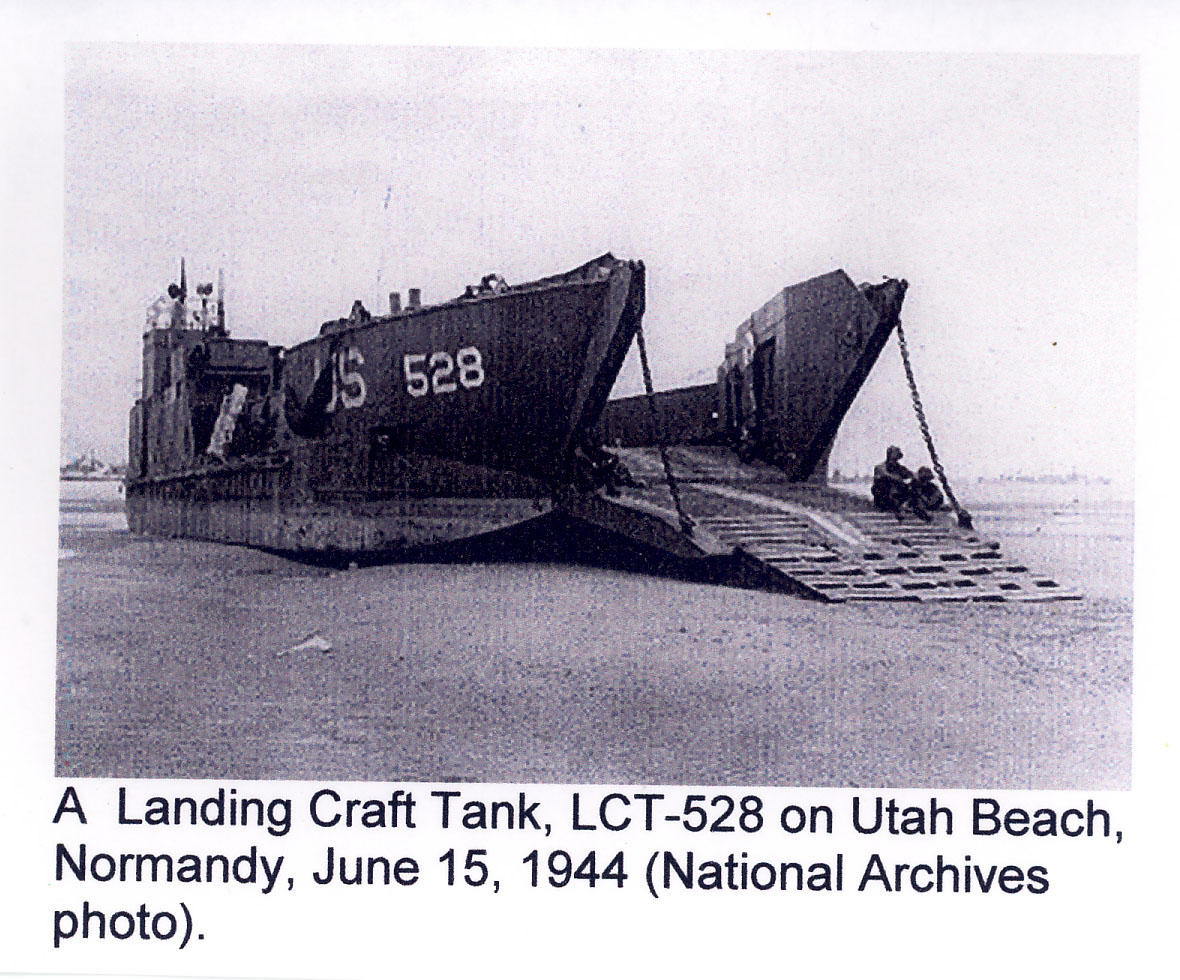 LST-528 on the beach