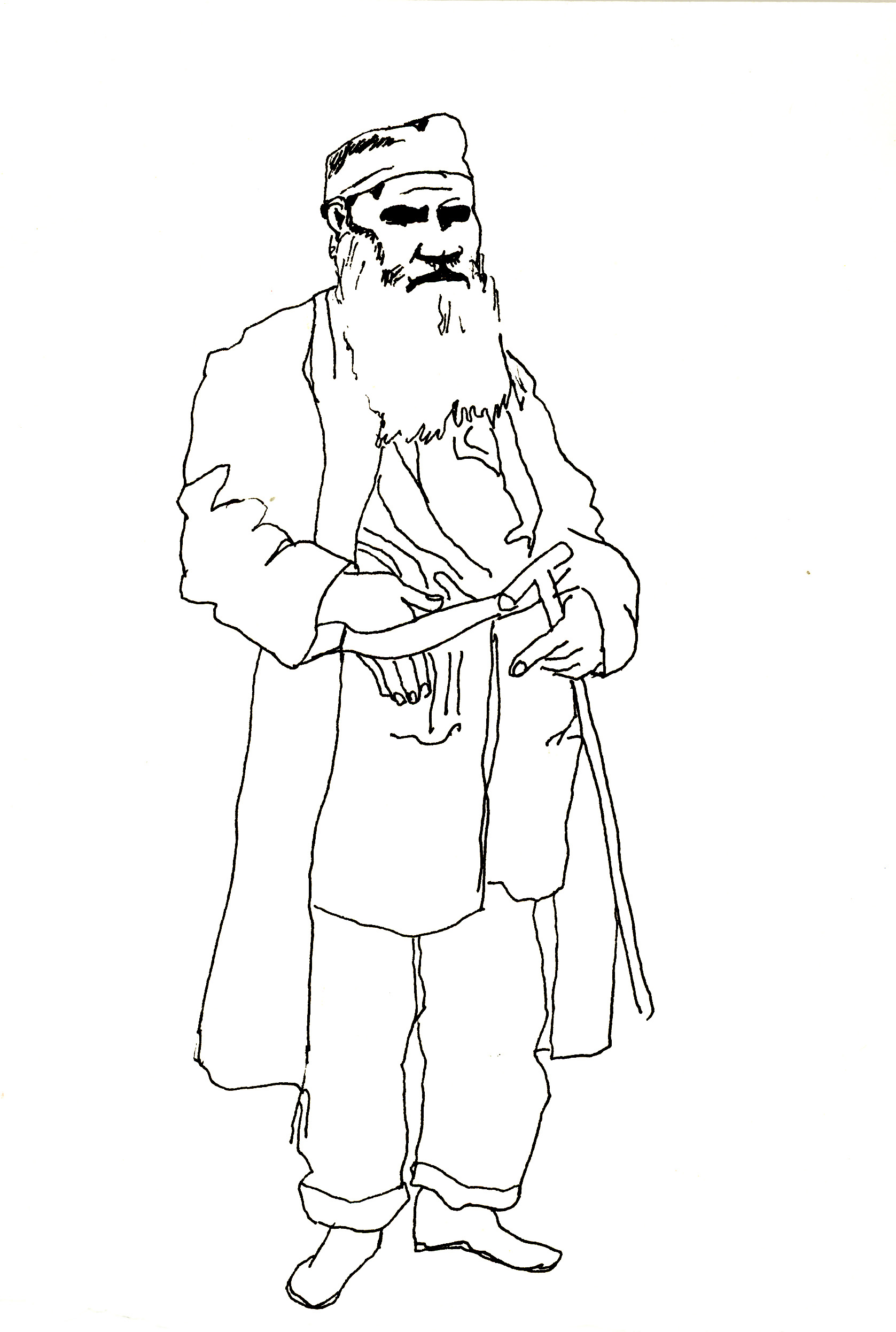 Tolstoy as an old man